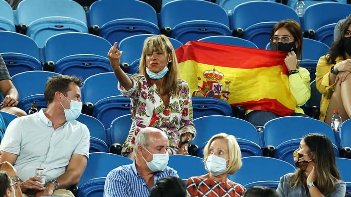 A fan at the Australian Open flipped off Rafael Nadal.