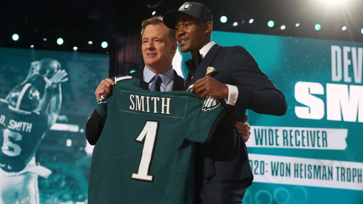 General manager Howie Roseman revealed why DeVonta Smith had been on the Philadelphia Eagles draft radar since 2018.