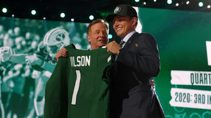 Zach Wilson and Roger Goodell.