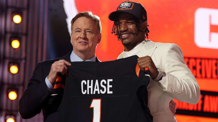 Ja'Marr Chase tops The Duel's post-draft rookie rankings for fantasy football dynasty leagues in 2021.