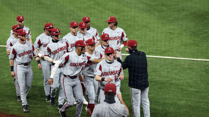 The Arkansas Razorbacks have the best odds to win the College World Series.