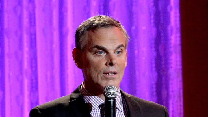 BEVERLY HILLS, CA - MAY 24:  Presenter Colin Cowherd speaks onstage during the 41st Annual Gracie Awards at Regent Beverly Wilshire Hotel on May 24, 2016 in Beverly Hills, California.  (Photo by Tommaso Boddi/Getty Images for Alliance for Women in Media)