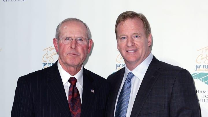 Tom Coughlin and Roger Goodell.