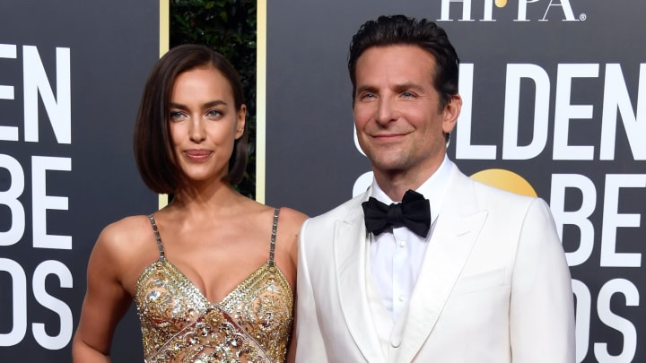 Irina Shayk y Bradley Cooper en una gala de los premios Golden Globe