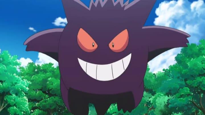 Gengar from the Pokémon anime