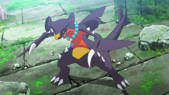 Garchomp from the Pokémon anime