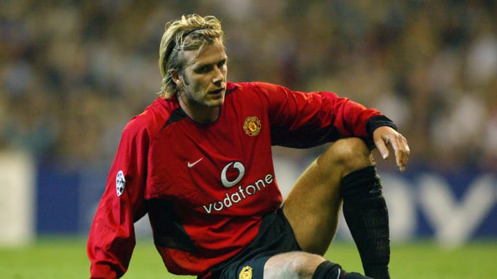 David Beckham Manchester United Red Devils Champions League Real Madrid