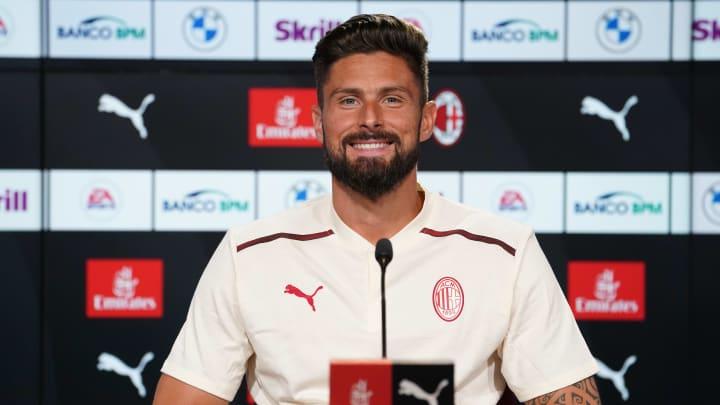 Olivier Giroud est très heureux d'avoir rejoint l'AC Milan.