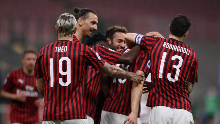 Zlatan Ibrahimovic, Theo Hernandez, Alessio Romagnoli, Hakan Calhanoglu, Ante Rebic, Franck Kessie