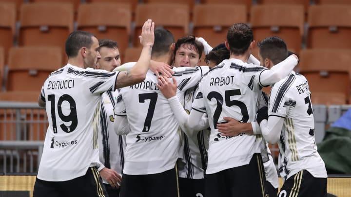 Federico Chiesa, Leonardo Bonucci, Aaron Ramsey, Cristiano Ronaldo, Adrien Rabiot, Rodrigo Bentancur