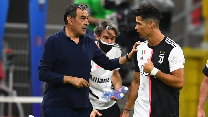 Maurizio Sarri managed Cristiano Ronaldo during his time at Juventus