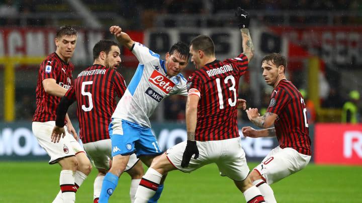 Napoli vs AC Milan - Serie A 2019/20: Live Streaming, Jadwal Laga, dan Info Skuat