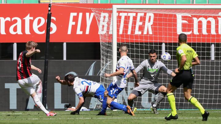 Jens Petter Hauge saves AC Milan late on