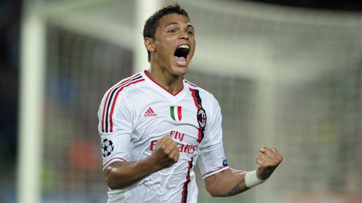 AC Milan's Brazilian defender Thiago Sil