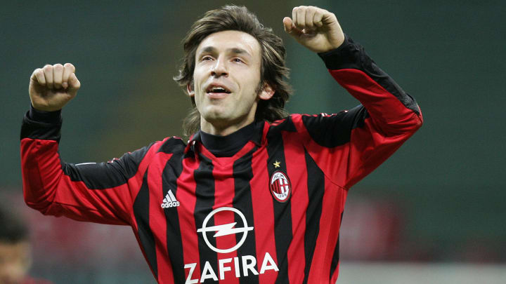 AC Milan's midfielder Andrea Pirlo celeb