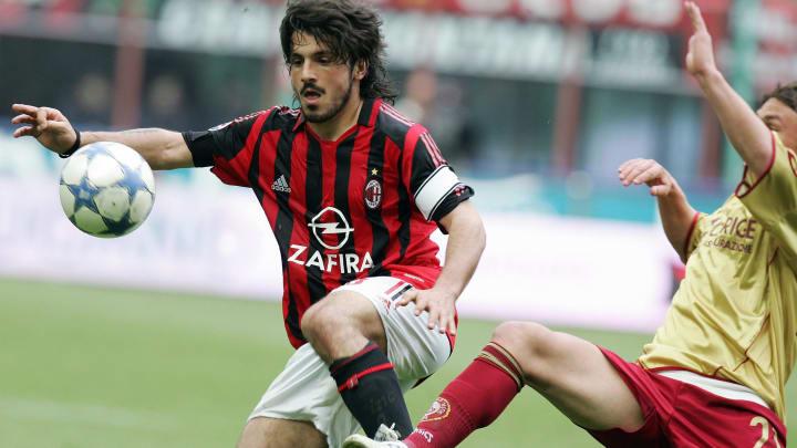 AC Milan's midfielder Gennaro Gattuso fi