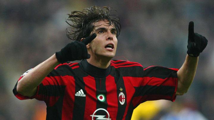 AC Milan's player Brazilian Kaka celebra