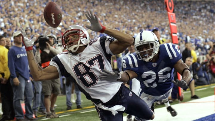 New England Patriots WR Reche Caldwell in the AFC Championship