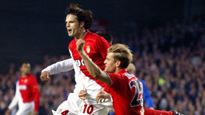 AS Monaco forward Jerome Rothen (R) and