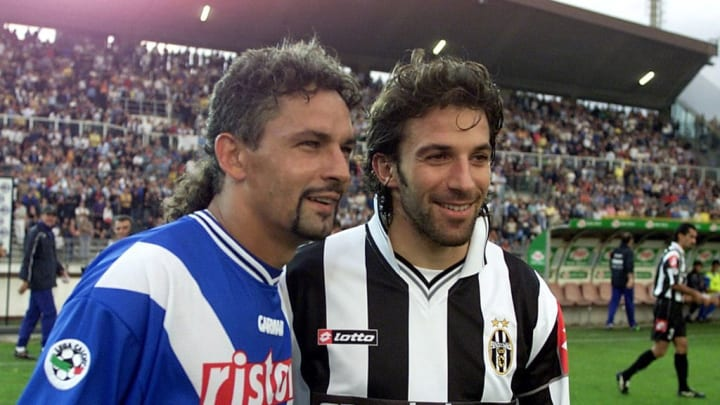 Two legends of Italian football