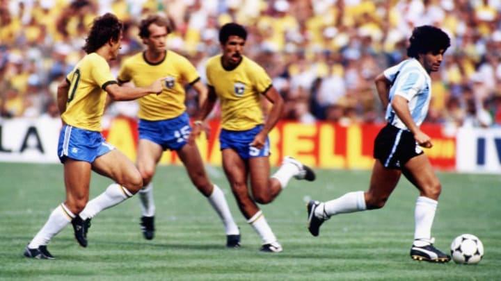 Diego Armando Maradona, Zico, Falcao, Toninho Cerezo