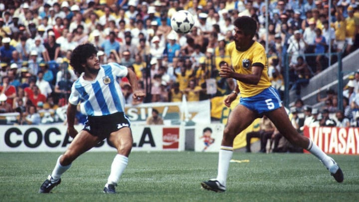 Maradona in the 1982 World Cup