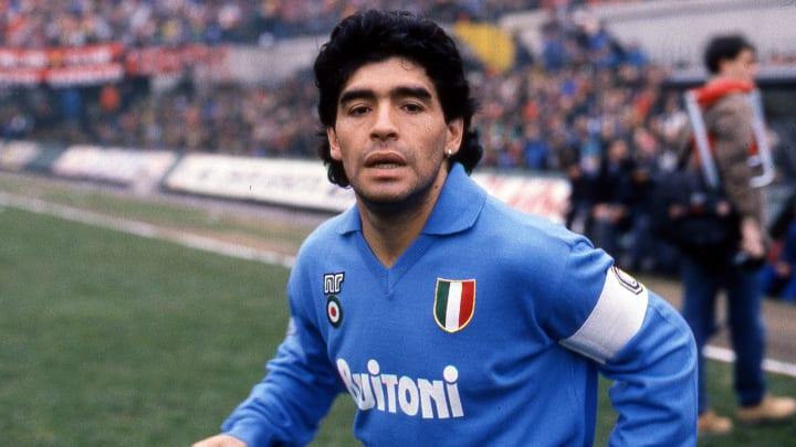Maradona sous les couleurs du Napoli
