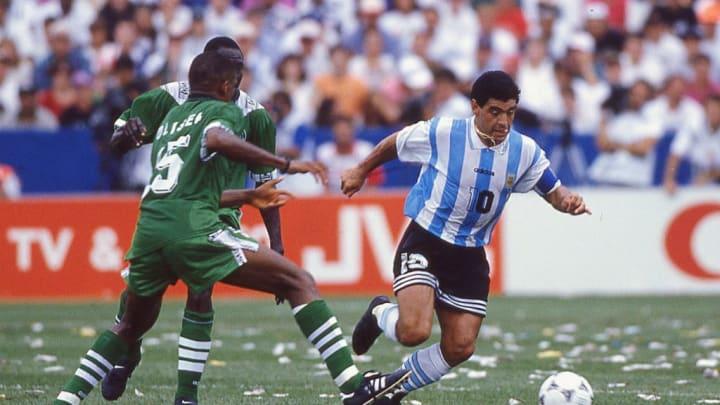 Maradona n'a joué que 2 matchs, avant de se faire exclure du Mondial 1994.