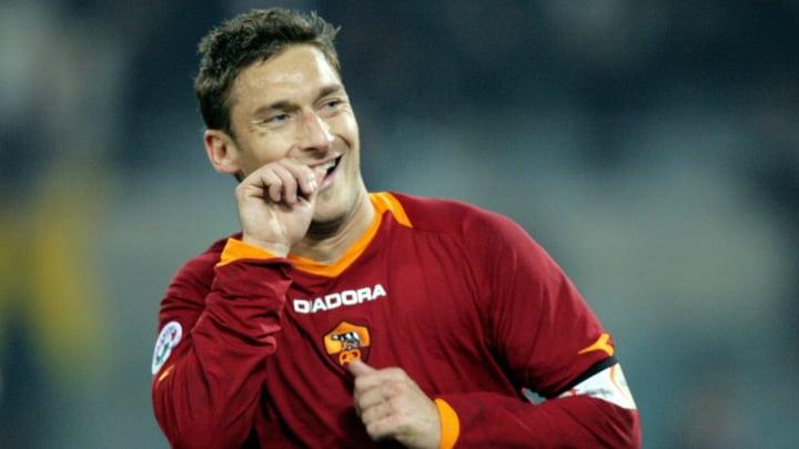 AS Roma captain Francesco Totti celebrat