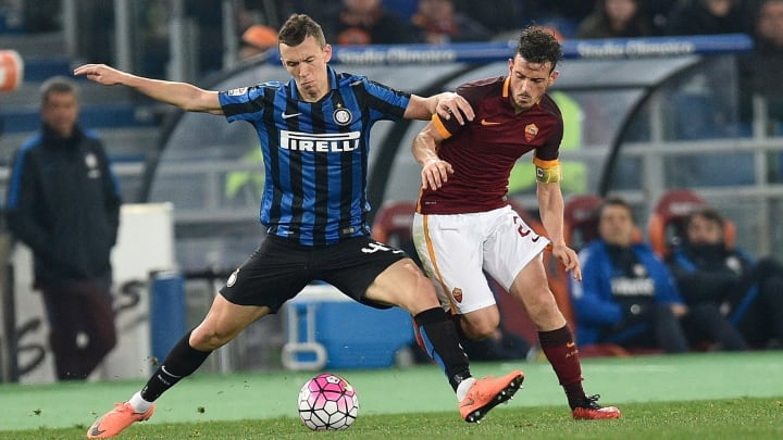 Perisic e Florenzi in un Roma-Inter 2015/16