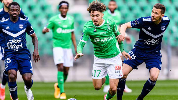 Adil Aouchiche Remi Oudin Saint-Étienne PSG Ligue 1