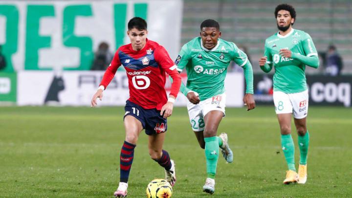 Luiz Araujo Zaydou Youssouf Lille Saint-Étienne Ligue 1