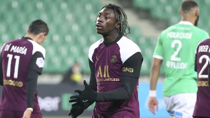 Moise Kean a été le seul buteur parisien lors du match nul face à Saint-Étienne.