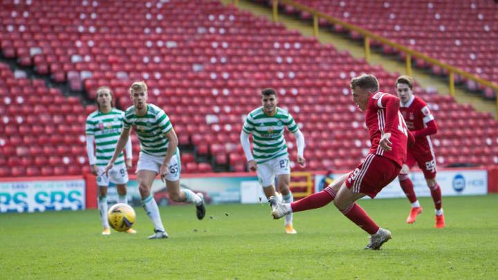 Ferguson nets from the spot against Celtic