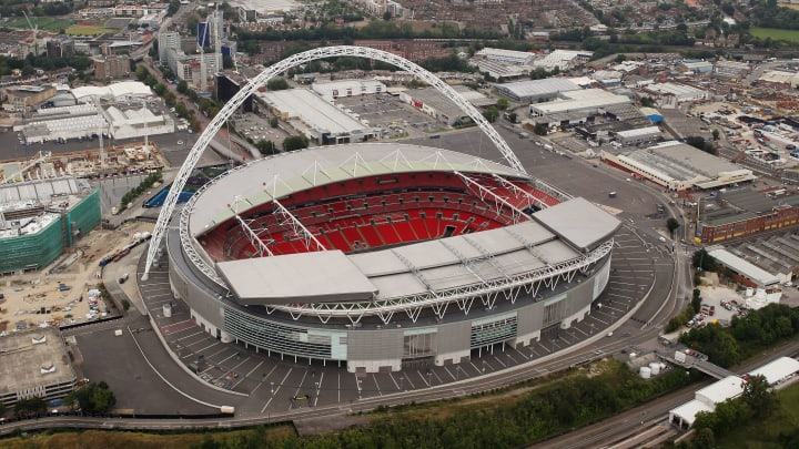 Wembley has only played host to friendlies in the past