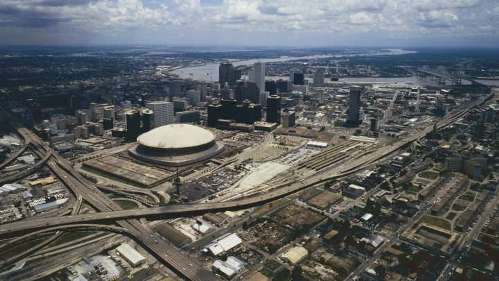 Aerial view of New Orleans, Louisiana, USA.