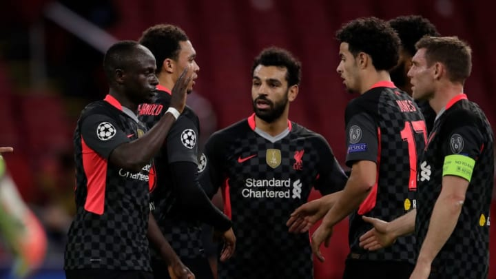 Curtis Jones, Mohamed Salah, Roberto Firmino, Sadio Mane Liverpool