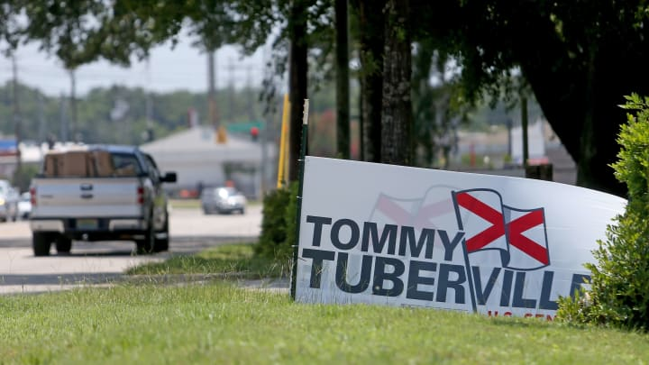 Tommy Tuberville sign.