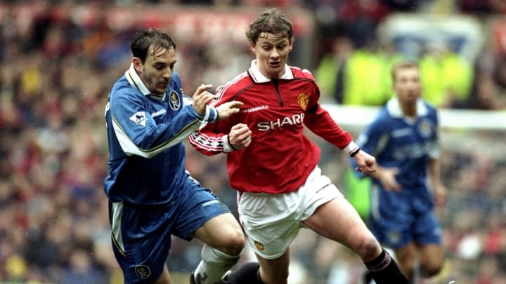 Albert Ferrer and Ole Gunnar Solskjaer