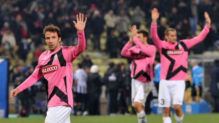 Alessandro Del Piero of Juventus reacts