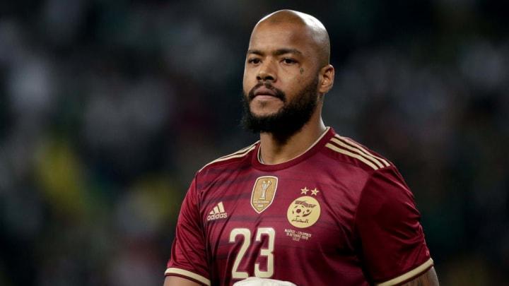 M'Bolhi durant un match amical opposant l'Algérie à la Colombie.