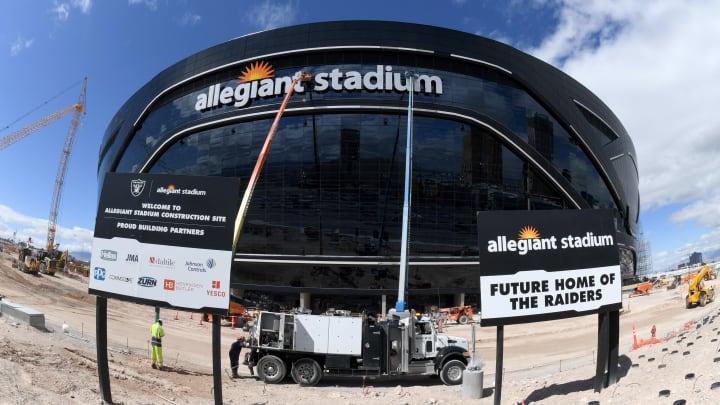 Allegiant Stadium is still under construction.