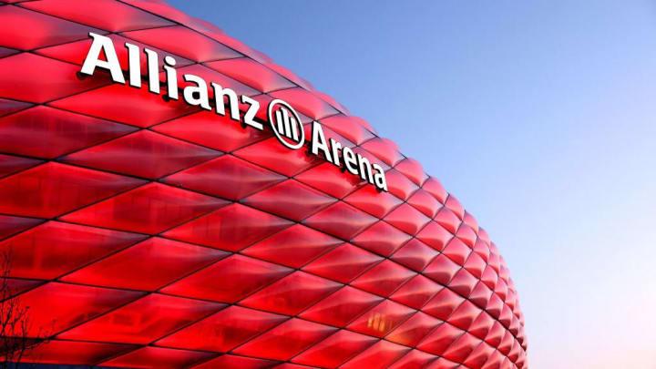 Allianz Arena Munich Seen During The Blue Hour