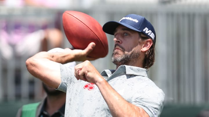 Aaron Rodgers at the American Century Championship.
