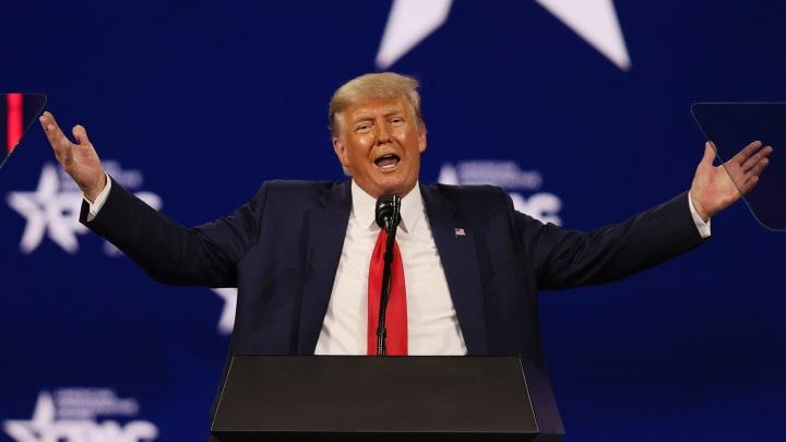 Donald Trump shouting tweets.