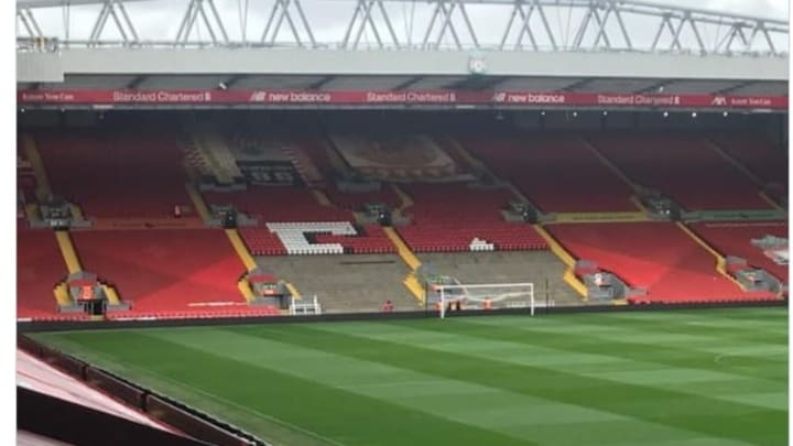 Anfield Picture Leaks As Liverpool Make Big Change To the Kop for Trophy Lift