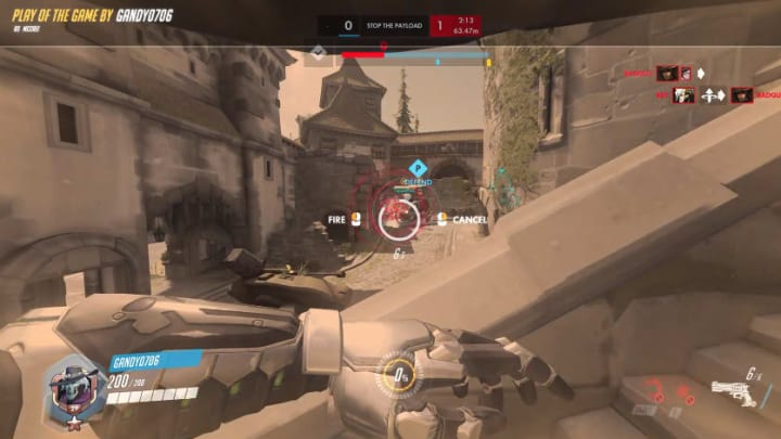 An Overwatch player landed a ridiculous Deadeye ultimate for a complete team wipe.