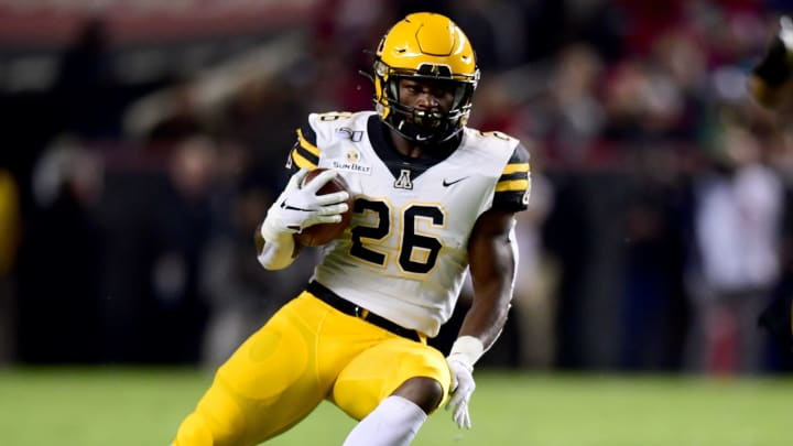 COLUMBIA, SOUTH CAROLINA - NOVEMBER 09: Marcus Williams Jr. #26 of the Appalachian State Mountaineers in the first half during their game against the South Carolina Gamecocks at Williams-Brice Stadium on November 09, 2019 in Columbia, South Carolina. (Photo by Jacob Kupferman/Getty Images)