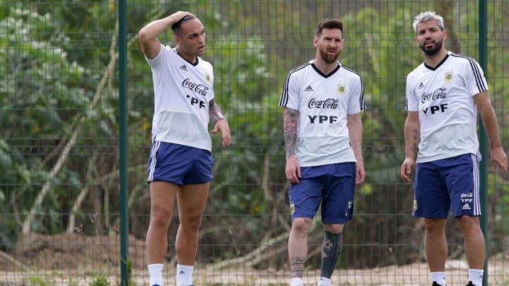 Lautaro Martinez, Lionel Messi, Sergio Agüero