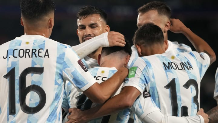 Argentina v Bolivia - FIFA World Cup 2022 Qatar Qualifier - La Argentina celebra el triunfo ante Bolivia.